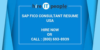 Sap Copa Resume Sap Fico Consultant Resume Hire It People We Get It Done