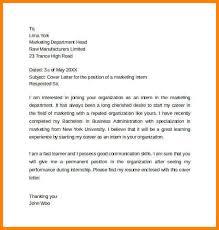 cover letter for marketing internship application cover letter ide