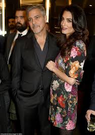 george michael s father george clooney u0027s wife amal is u0027expecting twins u0027 daily mail online