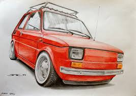 classic cars drawings polski fiat 126 p coches pinterest fiat 126 fiat and motor