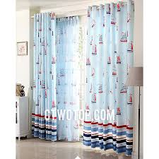 Curtains For Boys Room Room Toile Organic Striped Baby Blue Nautical Curtains