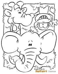 preschool jungle coloring pages safari coloring pages safari coloring page preschool images pic 2