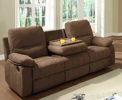 sectional recliner sofa sectional recliner sofa with cup holders in chocolate microfiber