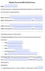 Simple Bill Of Sale For A Car by Free Alaska Vehicle Bill Of Sale Form Pdf Word Doc