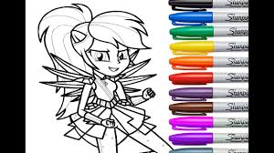my little pony rainbow dash coloring for kids mlp eg coloring
