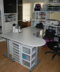 Chrome Floor L L Shaped White Wooden Table With Chrome Legs White Shelves On
