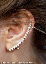 ear cuffs uk watson wears diamond ear cuff to noah premiere daily mail