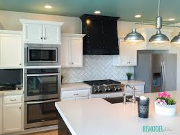 Kazan Kitchen Remodelaholic Get This Look A Colorful White Kitchen