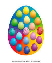 big easter eggs easter eggs spread big rainbow stock vector 1011227749