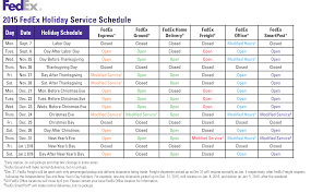 ups fedex 2015 year end schedules refund retriever