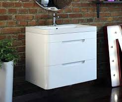 milano stone gloss white wall mounted vanity unit octave white 600 wall hung vanity unit with sink bathrooms com