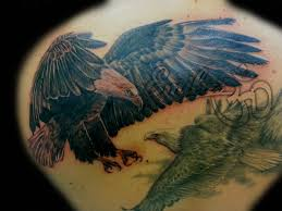 realistic black u0026 white eagle tattoo balinese tattoo miami