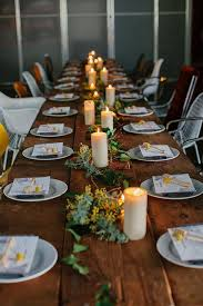 rustic dinner table settings untitled interiors outdoor entertaining and wood table