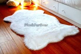 Faux Fur Sheepskin Rug 3 U0027 X 5 U0027 True White Warm White Brown Black Faux Fur Rug