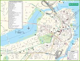 Boston Street Map Planning Guide And Route Map Boston Super Tours Tourist For Of