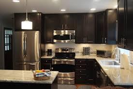 Dark Kitchen Cabinets With Light Countertops - dazzling kashmir white granite method raleigh modern kitchen