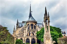 flying buttress rear back overcast skies flying buttresses notre dame cathedral