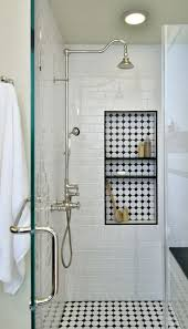 best 25 shower niche ideas only on pinterest master shower before after this vintage inspired master bathroom is an instant classic