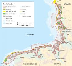 sea of map wadden sea heritage map waddensea worldheritage