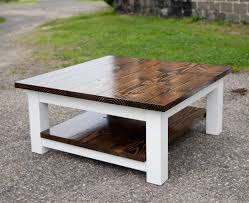 Furniture Homemade Coffee Table Solid Wood Coffee Table by Large Coffee Table With Shelf Solid Wood Farmhouse Table By Emmor