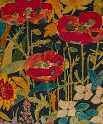 Vintage Velvet Flowers - faria flowers vintage velvet cushion in marigold liberty london