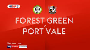 Two Racing Flags Logo Forest Grn 1 0 Port Vale Match Report U0026 Highlights