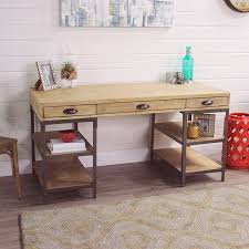 Metal And Wood Furniture Wood And Metal Teagan Desk World Market