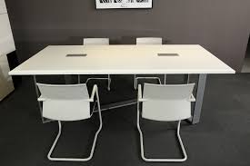 White Meeting Table White Modern Style Office Furniture Meeting Desk Conference Table