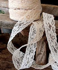 wide lace ribbon ak trading 1 wide x 25 yards ivory floral pattern