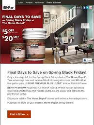 the home depot black friday deals behr time is ticking final days to save on black friday deals