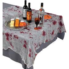 halloween linens amazon com creepy halloween party bloody gauze table cover