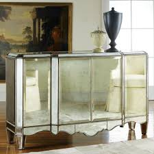 furniture delightful image of gold mirrored buffet table for