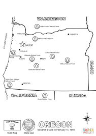 State Map Of Oregon by Map Of Oregon Coloring Page Free Printable Coloring Pages