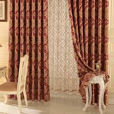 red bedroom curtains happy time jacquard and printed red living room or bedroom