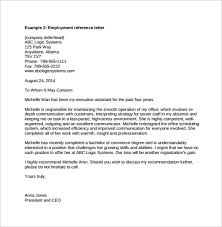 letter of recommendation for job reference letter job template