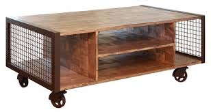Shipping Crate Coffee Table - crafters and weavers in business for almost 20 years in usa