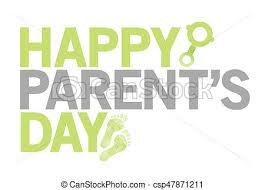happy green color happy parents day green color sign illustration isolated clipart
