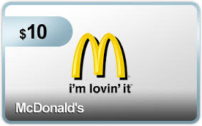 mcdonalds gift card discount 10 mcdonalds gift card from plink free stuff