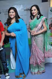 Hot Images Of Kushboo - kushboo sundar in saree photosactress kushboo blue saree stills