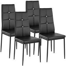 sedie imbottite per sala da pranzo set di 4 sedie per sala da pranzo julien tectake