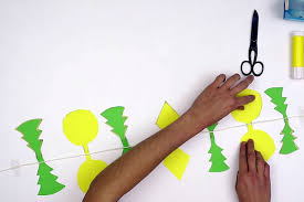 make a christmas tree and ornament garland videos for kids