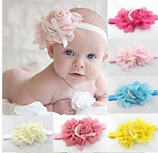 baby hairbands ruichy baby girl s multi colour peal hair bow baby