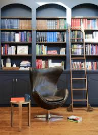 Arched Bookcase Black Built In Bookcases Transitional Living Room Julie