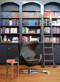 black built in bookcases transitional living room julie