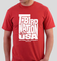 design a shirt in utah derek m payne southern utah university t bird nation tshirt design