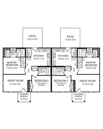 2 bedroom bath duplex house plans