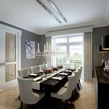 swarovski crystal chandelier dining room midcentury with art