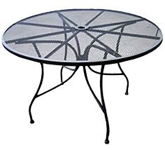 Mesh Patio Table Aaa Furniture Mmt3925 39 Mesh Metal Patio Table Iron Rod