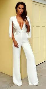 white plunge jumpsuit beecie plunge cape style jumpsuit lexxi fashion