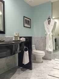 one carrara marble bathroom four colours maria killam the